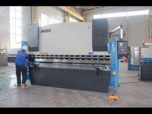 125T platerbøyemaskin 6mm, hydraulisk trykkbremse WC67Y-125T 3200 for Kina