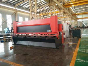 12x3200mm stålplater guillotine maskin 3000mm metallplater skjærmaskin 12mm elektrisk