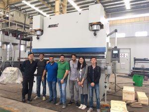 Brasil Kunder besøker fabrikker og Kjøp Press Brake Machines