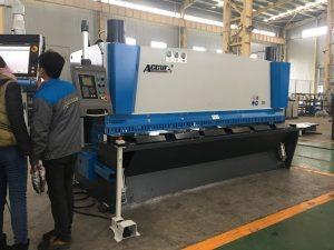 Hydraulisk guillotine maskin MS8-8x3200 med ark støtte system