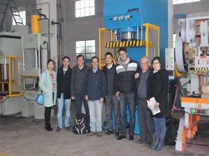 Delegasjonen av Peru kom til å besøke våre fabrikk- og kjøpsmaskiner